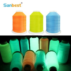 Sanbest Glow In Dark Luminous Machine Embroidery Thread DIY швейная нить полиэстер 3000M 150D / 2 12 цветов опционально TH00029