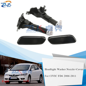 ZUK Headlight Headlamp Water Spray Nozzle Jet With Washer Cover Cap Case For HONDA For CIVIC FD6 2006 2007 2008 2009 2010 2011
