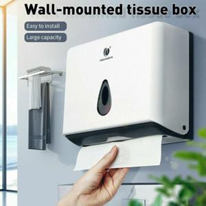 Wall Mounted Bathroom Hand Paper Tissue Towel Dispenser Plastic box Toilet Holder storage boxes bins