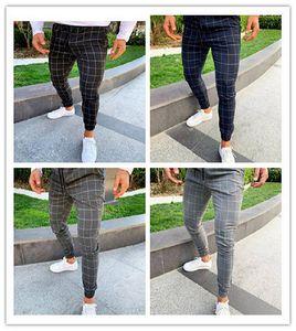 Die Designer-Hosen der Art- und Weiseplaid-Männer druckten beiläufige Kordelzug-Bleistift-Hosen der beiläufigen Mens-Hosen neue Ankunft