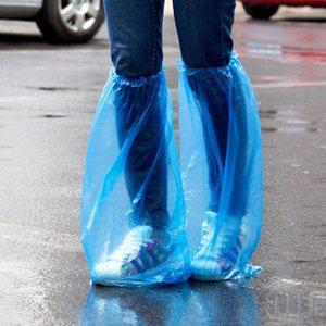 Shoe descartável tampa do Boot Covers tapete Protetores de alta-Top Overshoes Waterproof Anti Slip Lavagem de plástico propés 25pairs