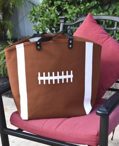Малая серия Оптовой Пробелы спортивной сумка Футбол Tote сумка с ПУ искусственной кожи ручкой Футбол Бейсбол Баскетбол Софтбол DOM13292