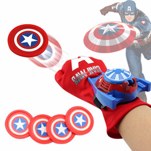 5 Estilos de PVC de 24 cm de Batman Guante de la figura de acción de Spiderman Lanzador de niños de juguete adecuado del hombre de araña de Cosplay Juguetes Batman Iron Man