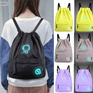Çantalar İpli Unisex Işık Preppy Gençler Noctilucent Karikatür İpli Paketi Pocket Okulu Spor Salonu Çanta softback baskı