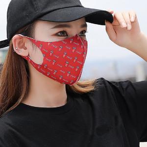 Мода Многоразовые Конструктор маска ветрозащитность Рот Обложка Cola Fanta Sprite Клубничный Камуфляж Печатные маски Солнцезащитный Женщины Mouth маски