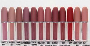 Maquillaje labial brillo líquido lápiz labial hidratante natural 12 Diferentes colores con colores ingleses maquillaje lipgloss