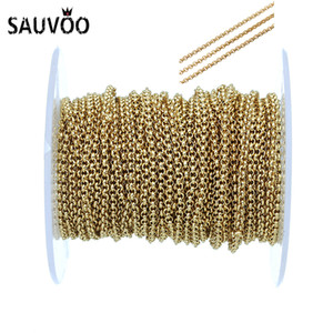 wholesale 10Yard lot 2mm Stainless Steel Chains Necklace Bulk Metal O Open Link Chain For Jewelry Making Diy Bracelet Necklace