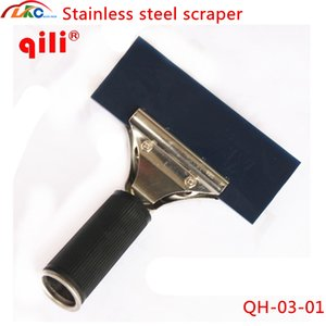 Qili QH-03-01 / 02 paslanmaz çelik Kauçuk şerit kazıyıcı Vinil yüklemek sanayi araçları kat temiz araba filmi sticker kazıyıcı araçları