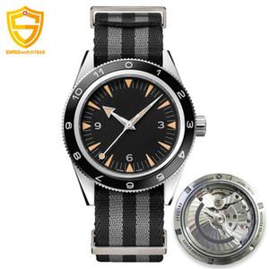 Lüks İzle Usta Eş Eksenli 8400 Mekanik Otomatik James Bond 007 Spectre Erkekler Spor Kronometre Erkek Tasarımcı Kol saatı