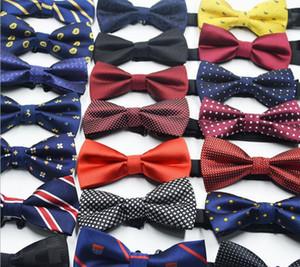 Los hombres del juego de negocio Pajaritas británica Corea del traje de Bowtie 72 colores elegantes ajustable tejido jacquard de poliéster Pajaritas