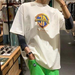Hommes T-shirts High Street ADER Film Company Bouclier d'impression erreur femme manches courtes T-shirt des vêtements décontractés S-L