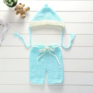 0-1M,3-4M Newborn Crochet Baby Costume Photography Props Knitting Baby Hat Bow newborn Photo Props New Born Baby Cute Outfits