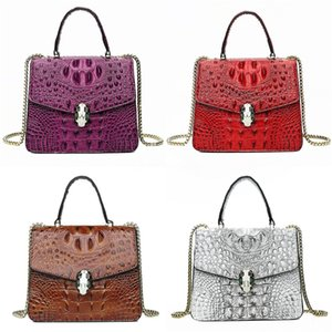 2020 Fashion Designer Women Clutch Geometric Real Cowhide Genuine Leather Messenger Bags Ladies Party Crocodile Shoulder Bag And#399