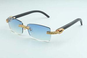 20 الطبيعية السوداء النظارات الشمسية الجديدة خشبية المعبد، حجم 3524012 (2) الفاخرة أصفر كبير الماس الفاخرة النظارات الشمسية: النظارات الشمسية 56-18-135mm