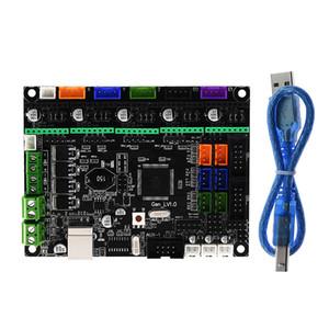 heap 3D Printer Parts & Accessories MKS Gen L V1.0 Integrated control PCB Board Reprap Ramps 1.4 support A4988 DRV8825 TMC2208 TMC2130 Dr...