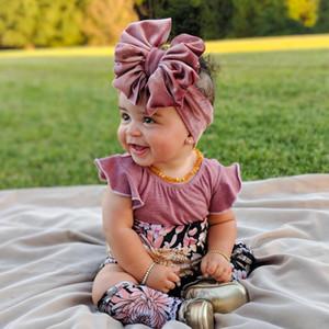 Nouveau mode 14 couleurs Big bowknot Bandeau bébé bande de cheveux de fille Bow enfants enfant turban de coton tête Wrap Accessoires cheveux
