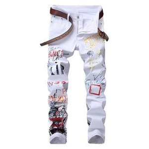 Mens Designer Jeans 2020 New High Quality Mid Rise Stretch Casual Pants Fashion Print Straight Jeans