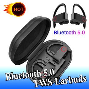 TWS Bluetooth 5.0 Earphone A9 Sports Headphone with Ear Hook Wireless Earbuds IPX7 Waterproof HIFI Bass Headset Noise Cancelling