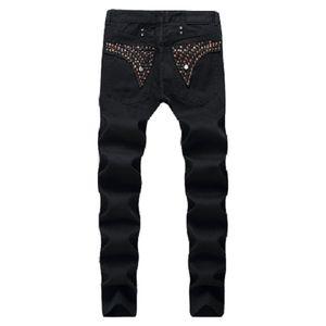 Famous- Men Jeans Robin Jeans Pantalones Robins Diamond Jeans For Man Diseñador Mens Biker Pantalón Cowboy Slim Denim Pants