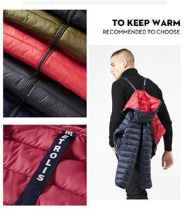 2019 Fashion Designer Casual New chaud Veste d'hiver de Thin Polyester Hommes Doux Hommes Col Stand Casual Confort Veste d'hiver
