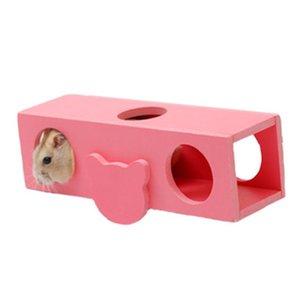 1Pc Hamster Seesaw Barrel Spielzeug aus Holz Tunnel-Schlauch-Spielzeug-Maus Gerbil Klettern Spielzeug Kleintierbedarf