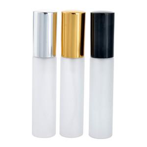 10ML Portable Glaçage En Verre Rechargeable En Vaporisateur De Parfum Bouteille avec Aluminium Atomiseur Vide Parfum Cas Conteneur 100pcs