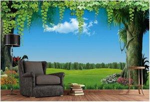 mur 3D couvrant des papiers peints de décoration sticker mural de fond peinture murale vigne fleur fée de la forêt de papier peint ciel fantaisie sur mesure murale