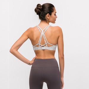 2019 nueva hermosa espalda señoras ropa interior deportiva femenina a prueba de golpes reunión fitness de secado rápido correr chaleco de fitness sin anillo de acero sujetador de yoga