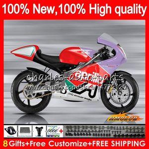 Para el cuerpo Aprilia RS 125 RS125R RSV125R RS125 RSV125 R rojo púrpura 70HC.10 RS125 99 00 01 02 03 04 05 1999 2000 2001 2002 2003 2005 carenado
