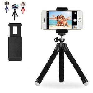 100pcs Sponge Octopus Tripod Universal Phone Bluetooth Selfie Camera Photo Set Stand Live Tripod For iphone Samsung Huawei Xiao mi