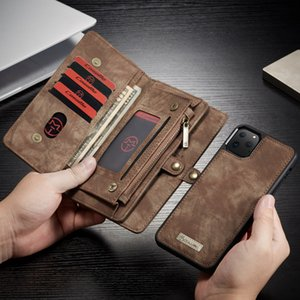 Leather phone case for iPhone 11Pro wallet phone case for iphone11 XsMax ,magnetic system card slots card slots cell phone leather case