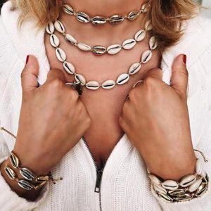 Fashion Woman Beach Shell Bracelet Girl Adjustable Boho Friendship Cowrie Bracelet Lady Jewelry Party Festival Gift TTA1218-14