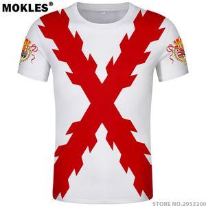 Испанская империя футболка бесплатно на заказ имя Испания Империо футболка Бургундия Испано-католическая монархия печати флаг крест одежда J190427