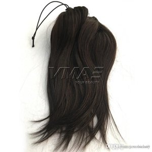 Vmae Brazilian Human Ponytail 100g 120g 160g Natural Color Straight Clip in Horsetail Unprossed Vmae Virgin Human HAIR