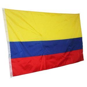 Pirinç Grometler Ücretsiz Kargo ile Kolombiya Bayrak 3x5FT 150x90cm Polyester Baskı Kapalı Açık Asma Sıcak Satış Ulusal Bayrak