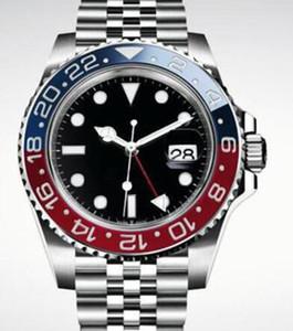 Top orologi Bracciale 2813 meccanico automatico da uomo Orologi da polso 40MM ruotabile blu e rosso Bezel orologio Orologi Uomo Acciaio Jubilee