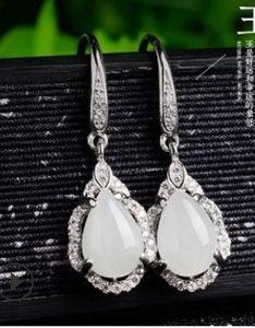moda kristal elmas düğün gelin yeşim damla bayan püsküller küpe gg