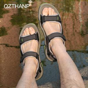 QZTHANP Мода Повседневная мужская обувь Сандалии Мужчины Обувь для Взрослых Мужчин Лето Мужской Водонепроницаемый Свет Erkek Ayakkabi Высокое Качество