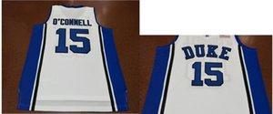 15. Alex O Connell Duke Blue Devils Koleji Basketbol Jersey Boyut S-4XL Vintage veya özel herhangi bir ad veya numara forması Custom Erkekler Gençlik kadınlar