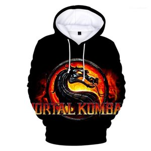 Drucken 3D-Mann Hoodies Mode Frau Hooies Paar passender Kleidung Das Spiel Mortal Kombat 11 Element