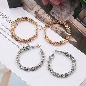 Hot Europa Mode Schmuck Frauen-große Kreis-Ohrring-Gold Silber übertriebenes Hoope Ohrringe