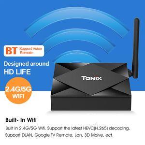 Tanix TX6S Android 10.0 TV Box Allwinner H616 Dört Çekirdek 4GB 32GB 64GB A53 işlemci Dual WiFi, Bluetooth Smart TV Box