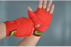 2pcs / paire Largeur de Longueur 2.5M Coton Sport Bracelet boxe Bandage Sanda Muay Thai MMA Taekwondo Gants main Wraps NY096