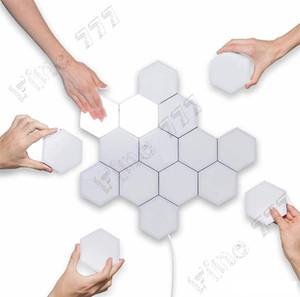 criativa decoração da lâmpada parede lâmpada Quantum levou Hexagonal lâmpadas favo de mel toque modular de iluminação sensível noite luz hexágonos magnéticos