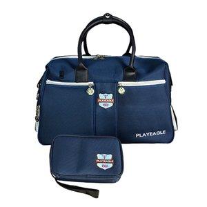2IN1 جولف الملابس أحذية حقيبة الغولف بوسطن حقيبة سعة كبيرة في الهواء الطلق اللياقة البدنية GYM سفر الأمتعة جراب من القماش الخشن حقيبة الحقيبة