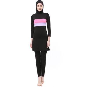 2019 Ladies'Swimwear Split Conservative Swimwear Beachwear im Freien, Schwimmanzug flexible, stilvolle Beach Wim Wear für schwimmende Muslime
