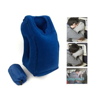 Wholesale-Outdoor Inflatable Pillows Soft Cushion Portable Travel Pillow on Airplane Innovative Body Back Support Foldable Neck Pillow