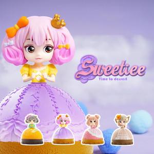 Милая сладкая конфета Принцесса кукла игрушка, слепая коробка, торт трансформируется в красивую девушку, 4 стиля, орнамент Xmas Kid Birthday Girl Gift, Collect, 2-1