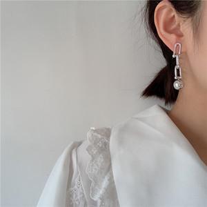 Урожай U-цепи серьги для женщин для женщин панк ювелирные изделия готический металлический шар серьги серьги Femme Brincos Hiphop Серьги моды Bijoux 2020