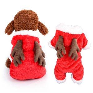Manteau pour chien Pet rennes Jumpsuit de Noël Elk Costume manteau pour chien à capuche Vêtements d'hiver de vacances Outfit Puppy Vêtements Chihuahua